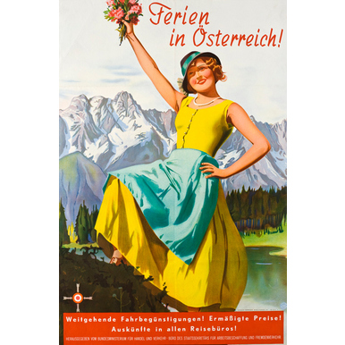 Advertising poster 1933 | Ferien in Österreich | Artikelnummer: PODE-PI-3063-A1