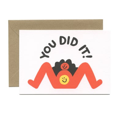 You did it! Geburtskarte / Birth card |  | Artikelnummer: wrap_cari01