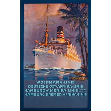 Advertising Poster 1915 | Woermann-Linie | Artikelnummer: PODE-PI-529-A4