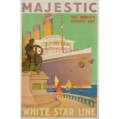 Majestic - White Star Line | Advertising Poster 1932 | Artikelnummer: POD-PI-4395-A3S
