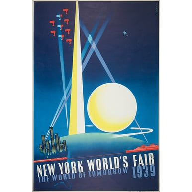 WERBEPLAKAT 1939 | New York World's Fair | Artikelnummer: POD-PI-4198-A3
