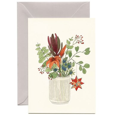 Große Grußkarte Winterlicher Blumenstrauß / Large Winter Boquet Greeting Card | Illustration Lilli Gärtner | Artikelnummer: lilli_strauss_stern