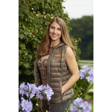 "Damen-Top ""GO for Innovation"", cappuccino 
