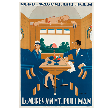 Londres-Vichy-Pullman. Nord Wagons Lits | Advertising Poster 1927 | Artikelnummer: POD-PI-632-A4S