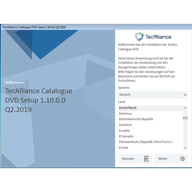Teile-Katalog Tec-Alliance 2Q.2019 , Vollversion fertig installiert | Windows 7 bis 10 64bit, VM-Ware fertig installiert | Artikelnummer: 000001121