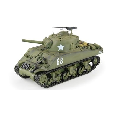 RC-Panzer,U.S. M4A3 Sherman, R&S, 2.4GHZ, in Holzbox |  | Artikelnummer: 23073
