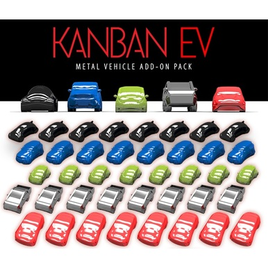 Kanban EV: Metal Car Set | Eagle-Gryphon-Games | Artikelnummer: 609456648455