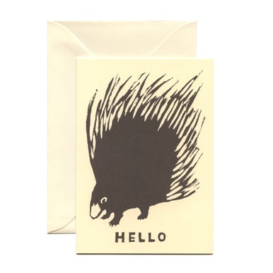 Stachelschwein Grußkarte / Porcupine Greeting Card | Cambridge Imprint | Artikelnummer: cambridge_hello