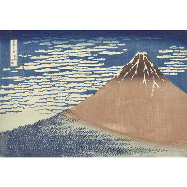 36 views of Mount Fuji (Series) | South wind, clear dawn | Artikelnummer: POD-KI-10996-A1S