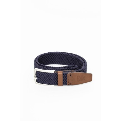 Vegane Gürtel Made in Poland | Dark Navy | Artikelnummer: belt_woven_navy_dark