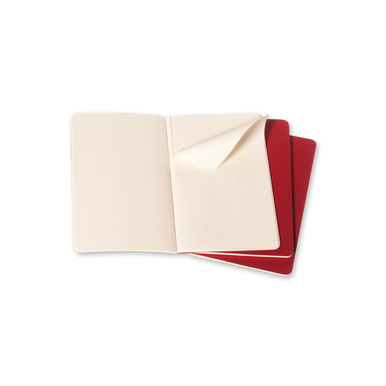 Moleskine Cahier Rot / Red | Large Liniert / Ruled | Artikelnummer: 931014