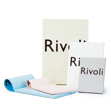 Rivoli A6 Block  / A6 writing pad | Hellblau / Light blue | Artikelnummer: 990.505.a6.blau