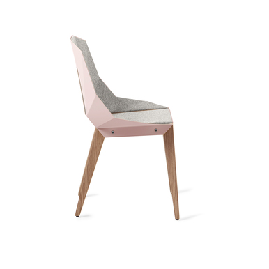 DIAGO Felt Chair | Pale pink w/ oak | Artikelnummer: tabanda_chair_003