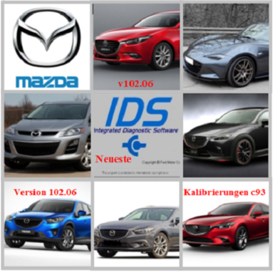Mazda IDS 102.06 Diagnose Software  + Kalibrierungen c93 Multilingual auch Deutsch | Windows 7 bis 10 | Artikelnummer: 000001027