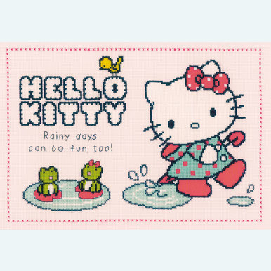 Hello Kitty - Rainy Days Can Be Fun Too - Vervaco kruissteekpakket met telpatroon |  | Artikelnummer: vvc-151913