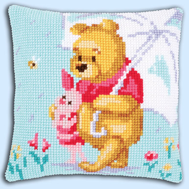 Winnie Feeling Sentimental - Vervaco Kruissteekkussen - Disney |  | Artikelnummer: vvc-172780