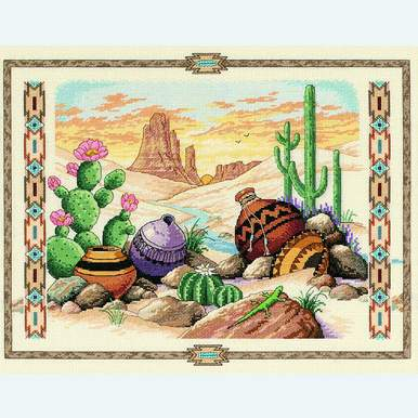 Charm of the Southwest - borduurpakket met telpatroon Dimensions |  | Artikelnummer: dim-03883