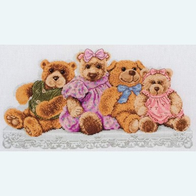 Teddy Shelf - Borduurpakket met telpatroon Coats Crafts |  | Artikelnummer: cts-pce730