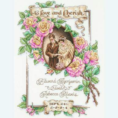 To Love and to Cherish - borduurpakket met telpatroon Janlynn |  | Artikelnummer: jl-023.0139