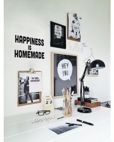 HAPPINESS IS HOMEMADE Wandsticker Typo Spruch  |  | Artikelnummer: 113236123