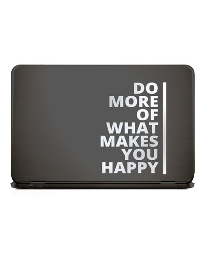 Laptop Sticker DO MORE OF WHAT MAKES YOU HAPPY  |  | Artikelnummer: 55666587