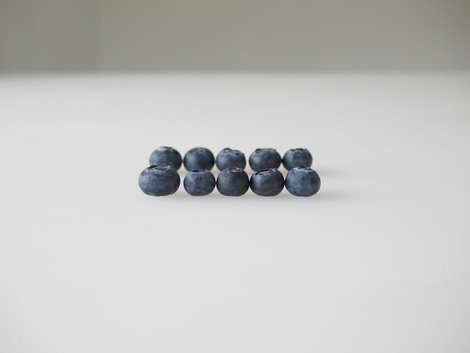 One dollar's worth of early season organic blueberries from California, 2010 | Edition 15+2 AP, Serie: