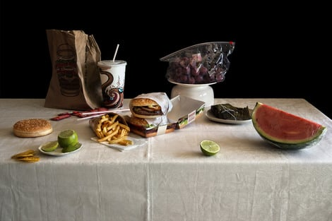 Still Life with Burgers, Exodus Serie 2014 | Edition 30 | Artikelnummer: VCO_07_45x60FAL_SR1