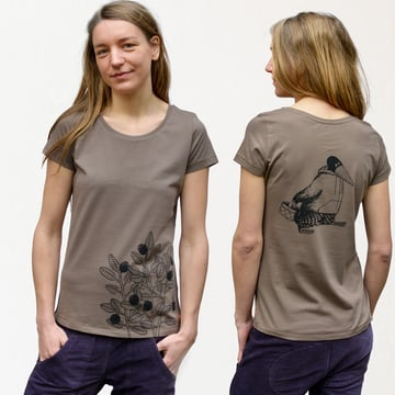 Blaubeer T-Shirt  | walnut brown | Artikelnummer: Cmig143