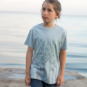 Björkar T-shirt | heather ice blue | artikelnummer: Cmig375