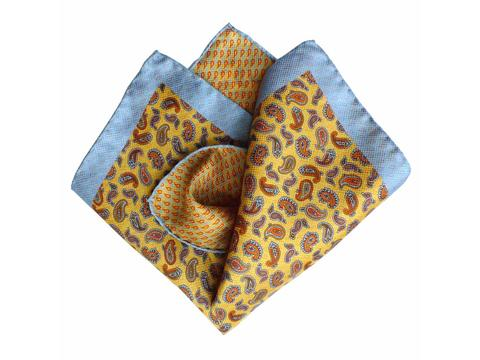 blue yellow paisley  | Artikelnummer: 3074