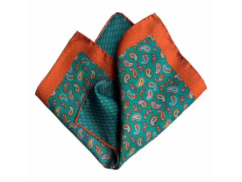 orange green paisley | Artikelnummer: 3073