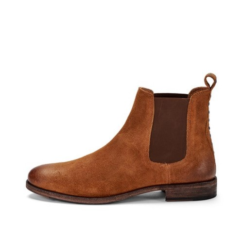 CRICKIT-Chelsea Boot Stiefelette-PAUL Suede Camel