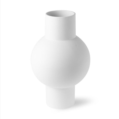 HK Living Vase matt white M