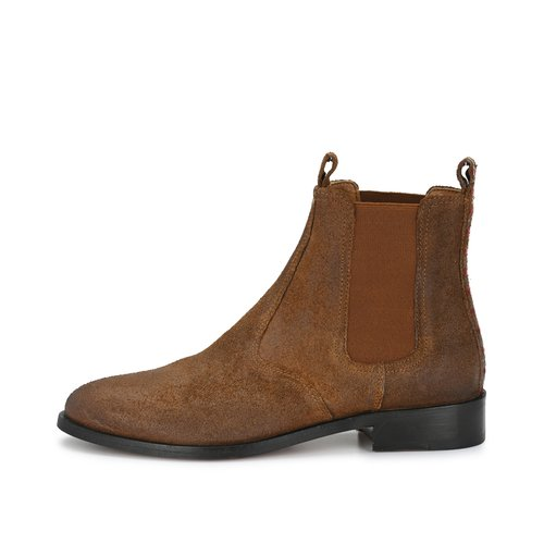 CRICKIT-Chelsea Boot Stiefelette-JANINE Suede Camel