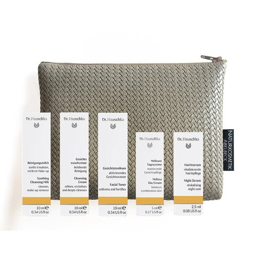 Set Mischhaut Text & Travel Bag Naturkosmetik Abelbeck Kosmetiktasche
