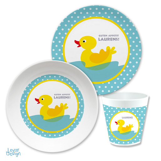 Kindergeschirr Set Enten |  | Artikelnummer: kigen1
