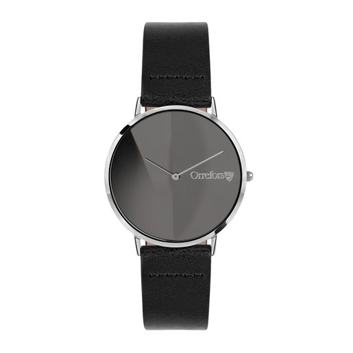Orrefors O-Time Black - dial black mirror