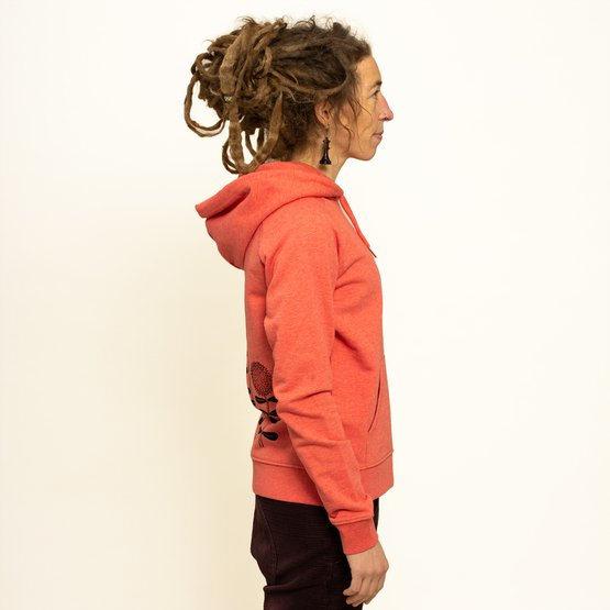 Waldblumen Hoodie | mid heather red | Artikelnummer: Cmig127