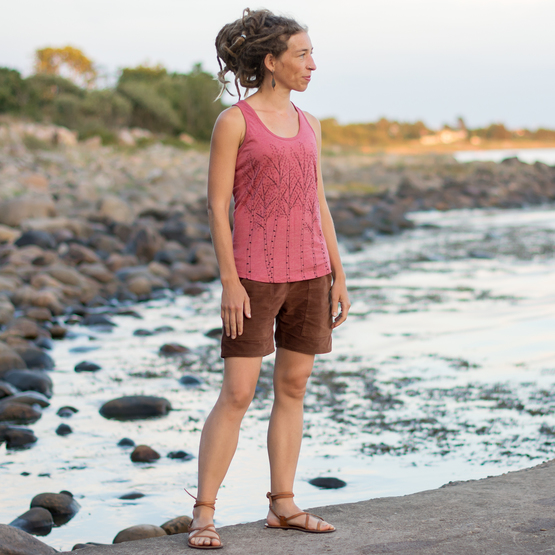 Birken Tank-Top | heather cranberry | Artikelnummer: Cmig191