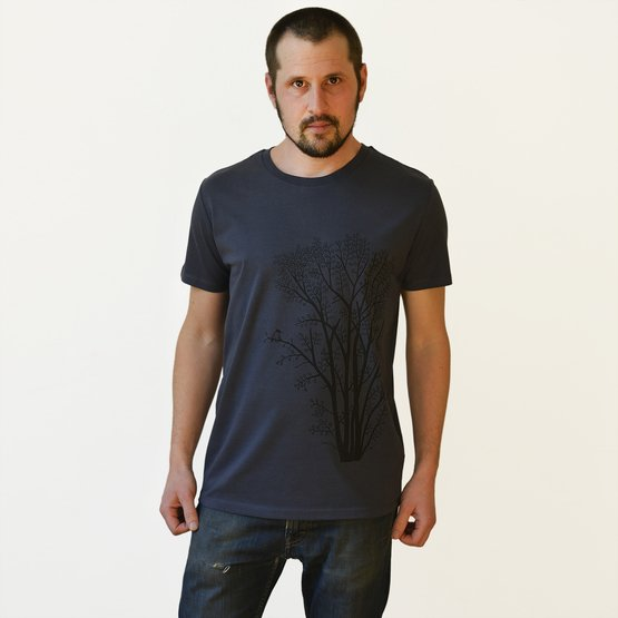 Erle mit Elster T-Shirt | india ink grey | Artikelnummer: Cmig223