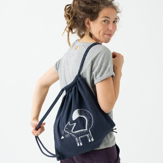 Franzi Fuchs Beutel / Gym Bag  | midnight blue | Artikelnummer: Cmig517