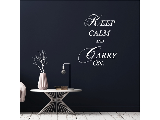 Wandtattoo Spruch Keep Calm And Carry On | Artikelnummer: WT0040-3