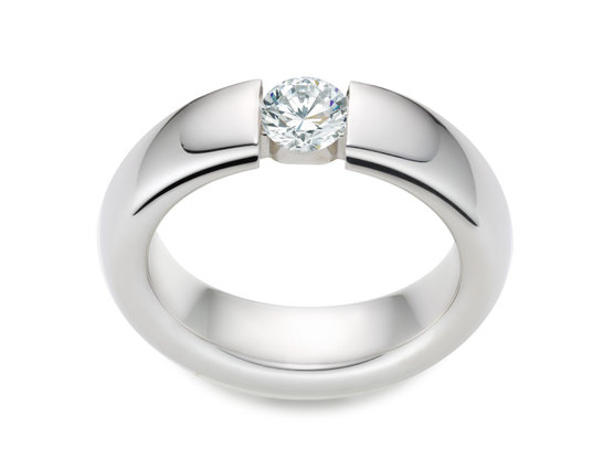 Diamantring Form 0.30 Karat in Premium Qualität | 950er Platin - Brillant in G - VS1 | Artikelnummer: FORPT030G