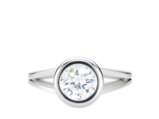 Diamantring Stil 0.30 Karat in Premium Qualität | 950er Platin - Brillant in G - VS1 | Artikelnummer: STIPT030G