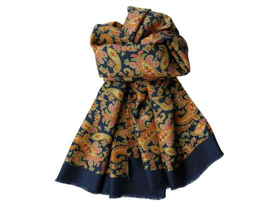 Scarf Navy Paisley | Product code: 13003