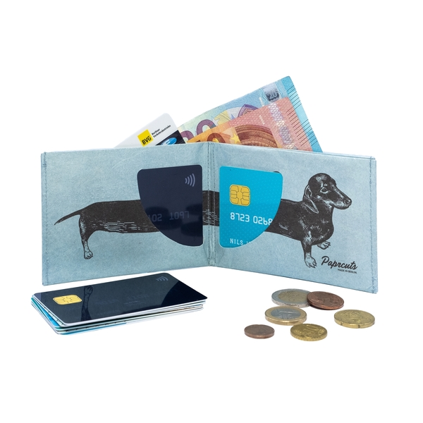 Paprcuts RFID secure Wallet SAUSAGE DOG