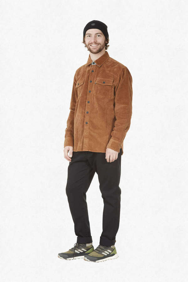 PICTURE ORGANIC CLOTHING Hemd GRAFTONS corduroy brown