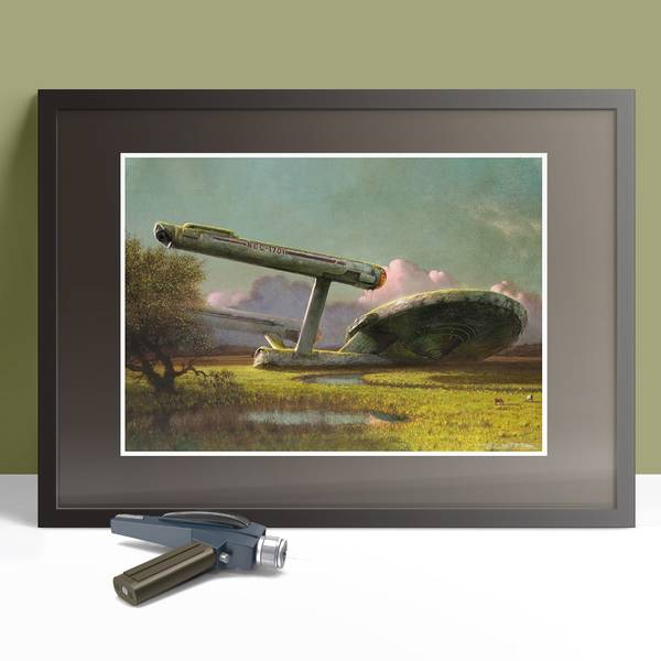 Enterprise at the Meadow Poster