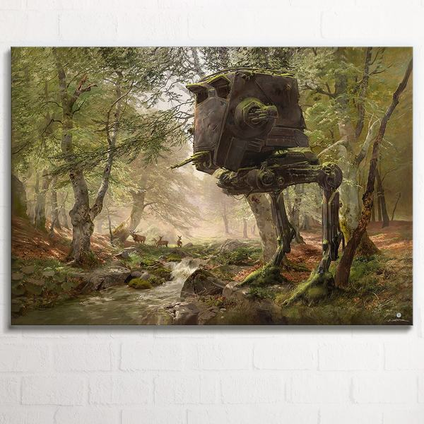 Abandoned AT-ST in the Forest XL