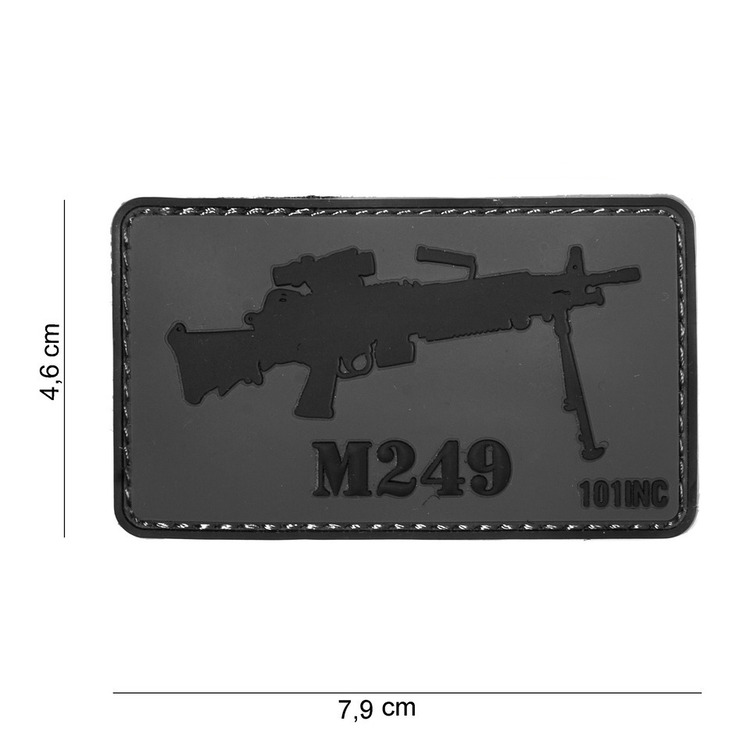 Waffenpatch, M249 | 3D Rubberpatch | Artikelnummer: INC4042
